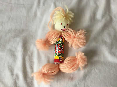 Vintage LIFE SAVERS CANDY Unopened Package 1970's YARN BODY FIGURE Ornament xmas