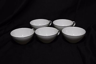 Vintage Style House Platinum Ring Coffee Cups Lot of 5