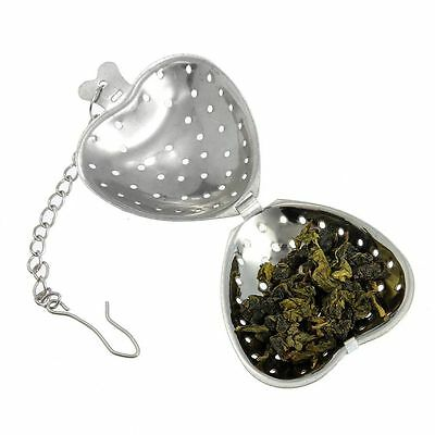 Hook Steeper Herb Filter Tea Infuser Strainer Heart Shaped