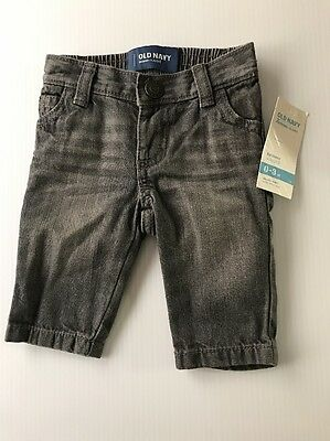 Old Navy Baby Skinny Jeans Size 0-3 Months  NEW  GREY