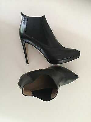 Leather Ankle Boots With Heel Size 41