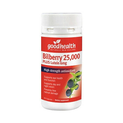 Good Health Bilberry 25000 Plus Lutein 6Mg