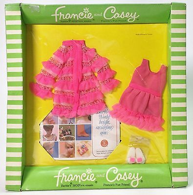 Vintage 1969 Fashions For Francie & Casey #1238 Snappy Snoozers #2 Nrfp