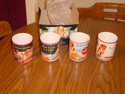1987 Coca-Cola Collector Mugs Set Of 4, Through The Years