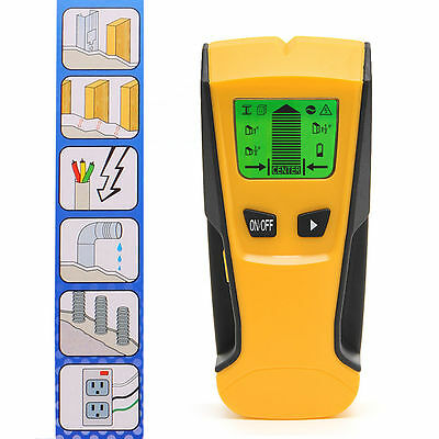 3 in 1 LCD Stud Center Finder AC Live Wire Detector Metal Scanner Hot