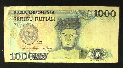 Indonesia Currency - 1987 - 1000 Rupiah - Collectible Banknote