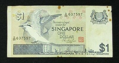 Singapore Currency - 1 Dollar - Collectible Banknote
