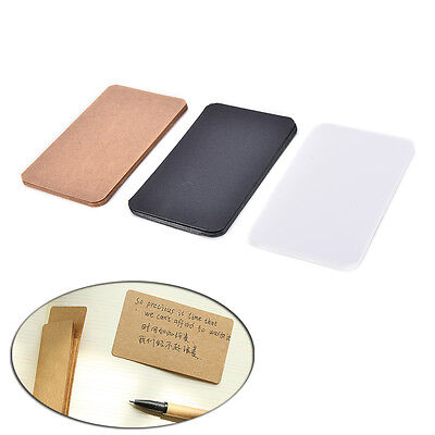 100Pcs Blank Trading Business Wood Cards Label Tag Name Card 90 x 53mm DIY SD
