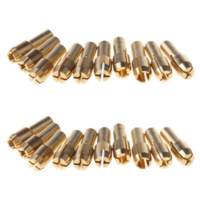 10Pcs 0.5-3.2mm Brass Drill Chuck Collet Bits 4.3mm Shank For Rotary Tool