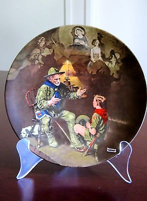 THE OLD SCOUT - NORMAN ROCKWELL   Limited Edition plate