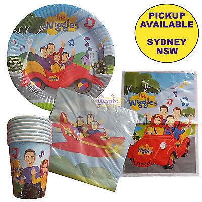 The Wiggles Birthday Party Supplies Pack 40 Piece Plates Cups Napkins Loot Bags