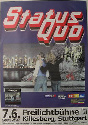 Status Quo Concert Tour Poster 2006 The Party Ain't Over Yet
