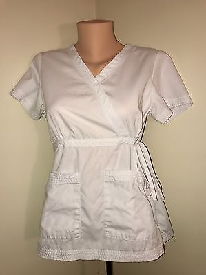 Koi by Kathy Peterson Red Scrub Top EUC Color White Size - S