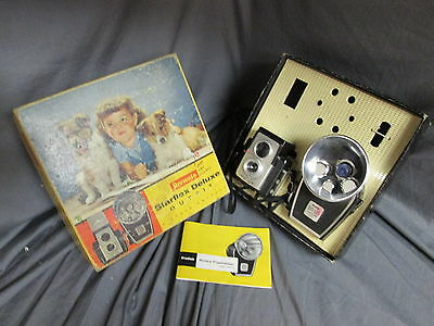 Vintage Kodak Brownie Starflex Deluxe Camera Outfit in Box w/ Literature
