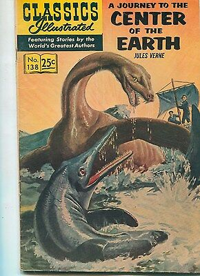 """CLASSICS ILLUSTRATED No 138 """"Journey to the Center of the Earth"""", by Jules Verne"""