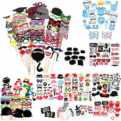 New DIY Photo Booth Props Mustache on A Stick Weddings Birthday Party Props UK