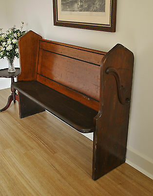 Antique Cedar & Pine Church Pew / Hall /Window /Feature /Bench Seat ~ c1880s