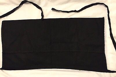 Black Waist Tie Around Back 3 Pocket Aprons - (2)