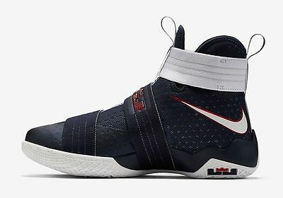 the best attitude e1dae 6ed01 NIKE LEBRON SOLDIER 10 SFG USA OLYMPIC GAMES OBSIDIAN 844378 416 Sz 14 NEW
