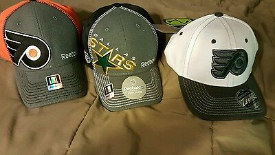Brand New Lot of fitted NHL hats(3)  Size L-XL. NWTs.