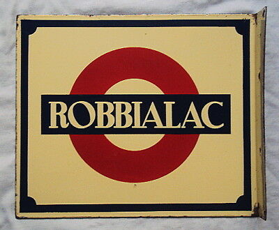 VINTAGE ROBBIALAC PAINT 2 SIDED Porcelain Enamel Sign