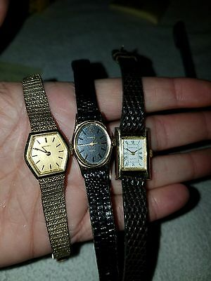 Lot of 3 Watches Timex, Seiko, and Caravelle