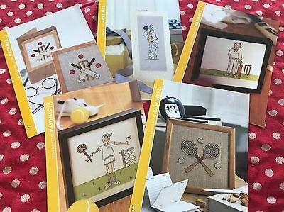 Cricket And Tennis Counted Cross Stitch Charts