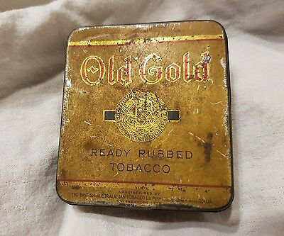OLD GOLD Ready Rubbed TOBACCO  TIN