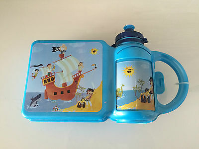 Pirat Brotdose Kinder Lunchbox Schule Kindergarten Flasche (1607DE1-$)