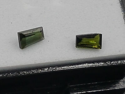 Natural Facy cut green tourmaline 0.30ct combined
