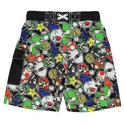 Boys Nintendo Super Mario Board Shorts Swimming Trunks ages 4 through to 12 BNWT