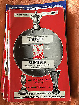Liverpool FC V Brentford, 10th september 1974