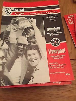 Dundalk V Liverpool, 14th September 1982 European Cup