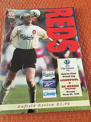 Liverpool in Europe, Liverpool V SK Brann, 20th March 1997