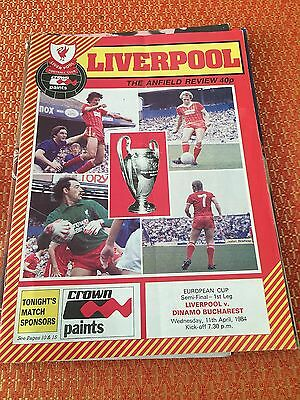 Liverpool in Europe, Liverpool V Dynamo Bucharest 11th April 1984