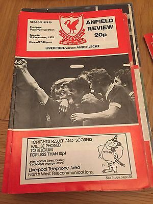 Liverpool V RSC Anderlect, 1978 Super Cup Final, 2nd Leg