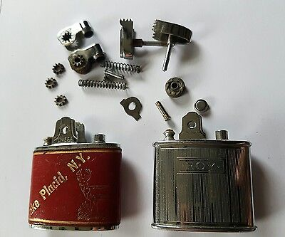 Two Vintage Lighters for spare or repair Omega & Ronson