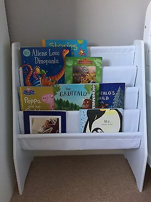 Display Bookcase In White Perfect For Nursery Or Playroom
