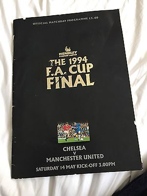 Fa Cup Final. 1994. Chelsea V Manchester United. Programme Signed By Dennis Wise