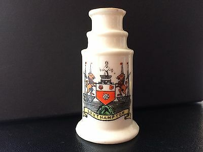 Florentine Crested China Model of a Telescope. Crest of Southampton