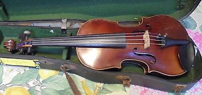 Threequarter size Violin - Maidstone - Dominant Strings - figured Back and Ribs