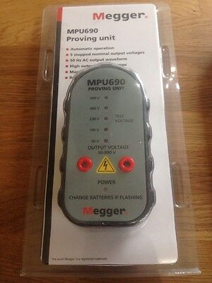 Megger MPU690 690v 2 Pole Voltage & Continuity Tester Proving Unit. Free P&p