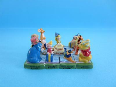 Unusual Miniature Porcelain, The Winnie The Pooh Puzzle Collection Set/very Rare