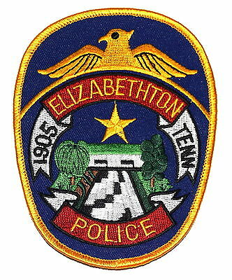 ELIZABETHTON TENNESSEE TN Police Sheriff Patch GOLDEN STAR ~