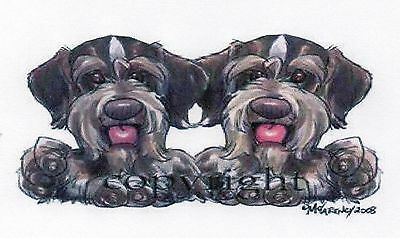 """German Wirehaired Poinbter """"Buddies"""" by Mike McCartney"""