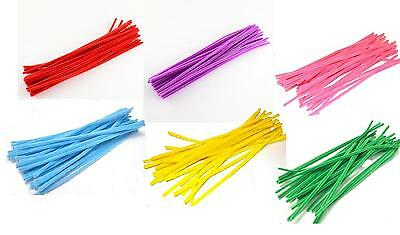Chenille Stems 30cm Pipe Cleaners for Craft - Single or Assorted Colour Packs