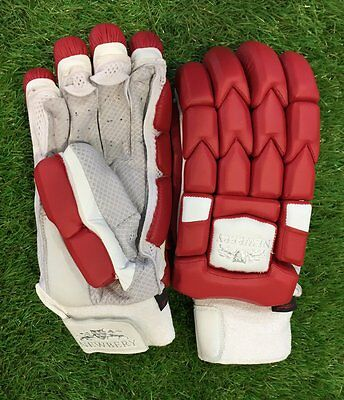 2017 Newbery Kudos Red Batting Gloves Size Mens Right Hand