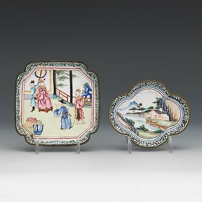 Antique Chinese Asian Plate Dishes, Qing Dynasty, 19th C NY Metropolitan Museum