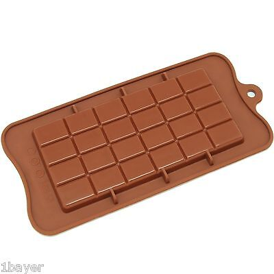 Freshware Silicone Break Apart Chocolate Bakery Dessert Protein Energy Bar Mold