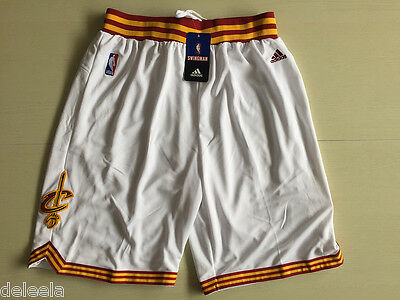 HOT NBA Cleveland Cavaliers Men's Basketball Shorts Stitched Stretch White